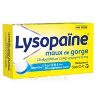LysopaÏne Comprimés à Sucer Maux De Gorge Sans Sucre 2t/18 à BOURG-SAINT-MAURICE