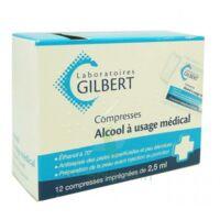 Alcool A Usage Medical Gilbert 2,5 Ml Compr Imprégnée 12sach à BOURG-SAINT-MAURICE