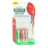 Gum Trav-ler 4 Brossettes Rouge Interdentaires 0.8mm à BOURG-SAINT-MAURICE