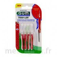 Gum Trav - Ler, 0,8 Mm, Manche Rouge , Blister 4 à BOURG-SAINT-MAURICE